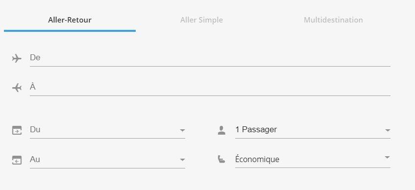 réservez votre vol avec option way