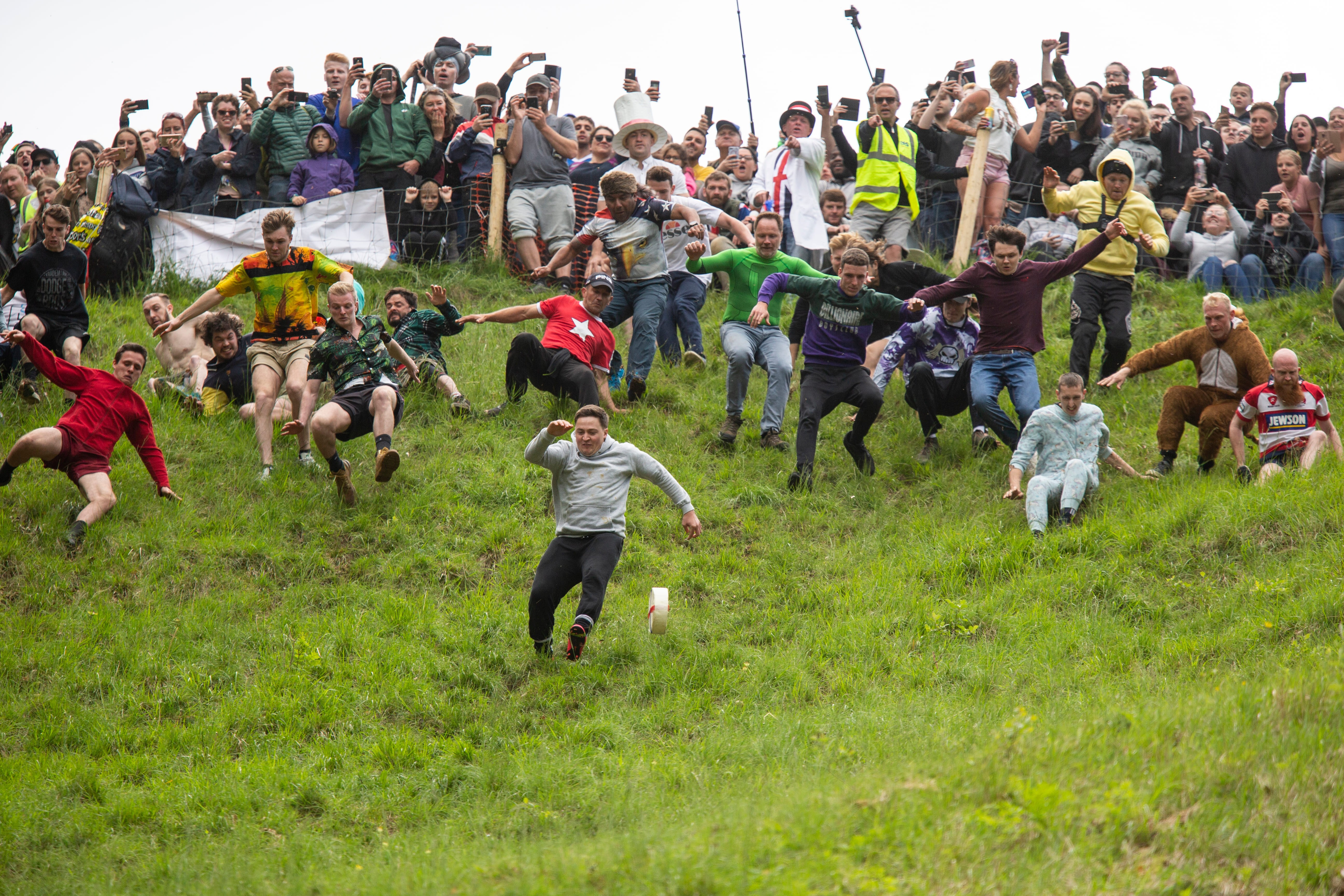 Cheese rolling - Gloucestershire, Angleterre, UK