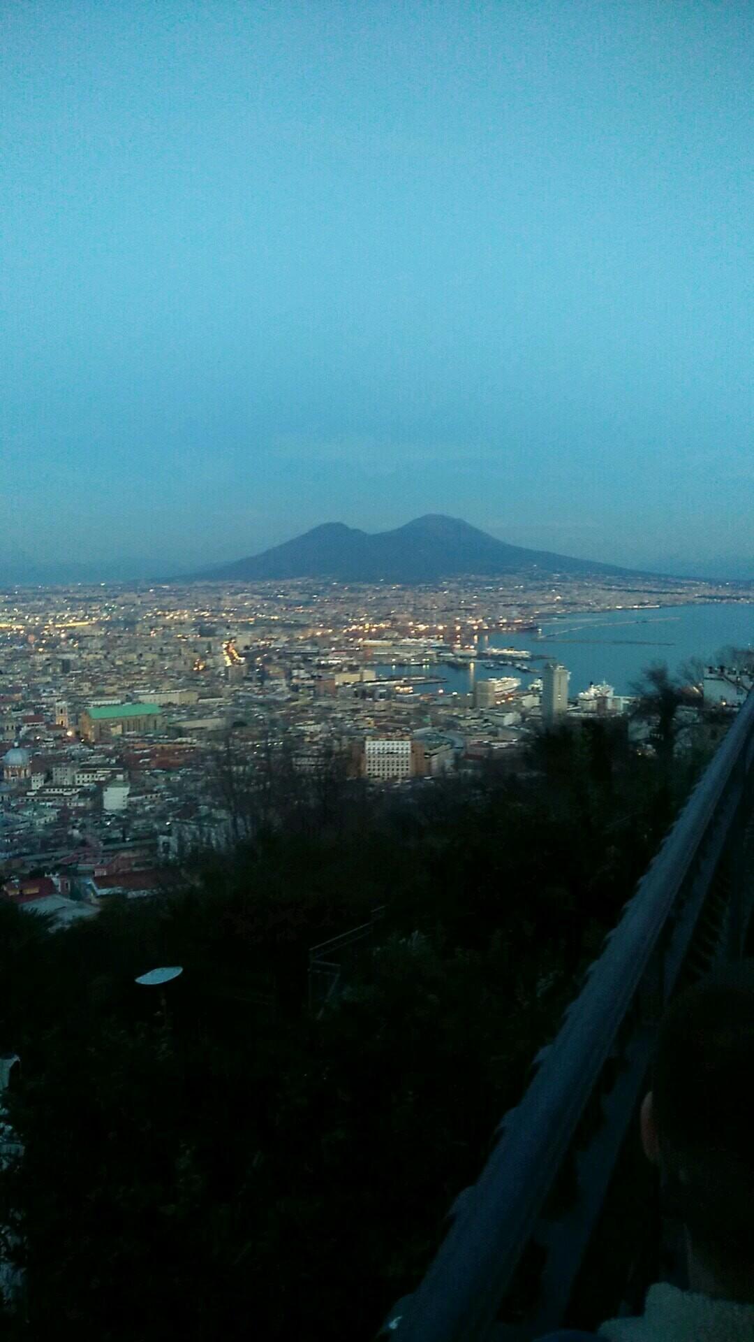 Vue sur Naples en Italie